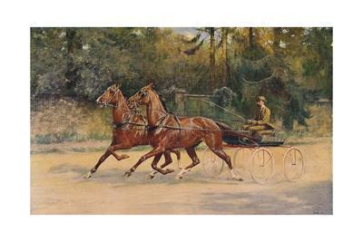 Trotting pair of Walter Winans, 1900 (c1910)
