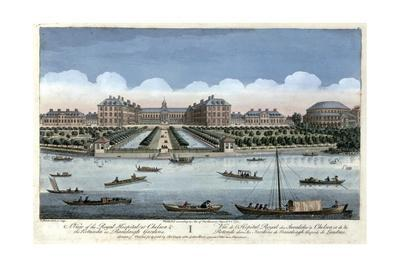 A View of the Royal Hospital at Chelsea and the Rotunda in Ranelagh Gardens, London, 1751
