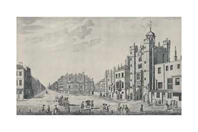 'Outside St. James's Palace, Pall Mall', 1740-1760, (1920)