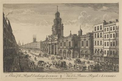 View of the Royal Exchange London, 1751