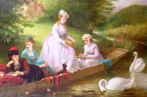 The Thames Swans by Thomas Brooks