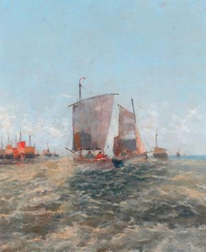 Off The Dutch Coast, 1896 by Thomas Bush Hardy