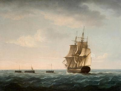 Rescue of the Guardian's Crew by a French Merchant Ship, 2nd January 1790