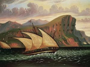 Felucca in Gibraltar by Thomas Chambers