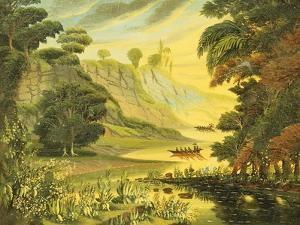 River Landscape. Mid 19th Century by Thomas Chambers