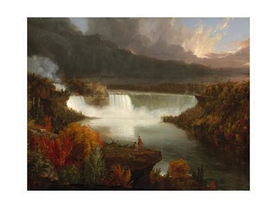 Distant View of Niagara Falls, 1830