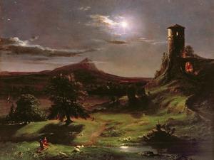 Landscape (Moonlight), C.1833-34 by Thomas Cole
