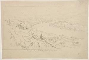 Mount Holyoke, Massachusetts (Graphite on Tracing Paper) by Thomas Cole
