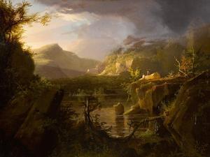 Romantic Landscape, c.1826 by Thomas Cole
