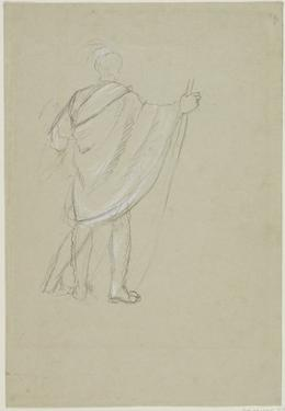 Standing Indian (Graphite Pencil on Paper) by Thomas Cole
