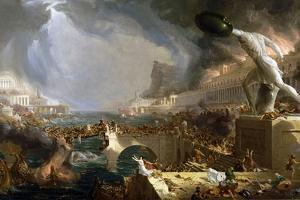 The Course of Empire - Destruction by Thomas Cole