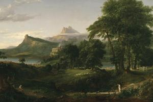 The Course of Empire: the Arcadian or Pastoral State, C.1836 by Thomas Cole