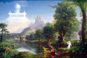 Thomas Cole The Voyage of Life Youth Plastic Sign