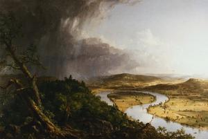 View from Mount Holyoke, Northampton, Massachusetts, after a Thunderstorm - The Oxbow by Thomas Cole
