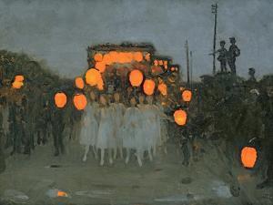 The Lantern Parade c.1918 by Thomas Cooper Gotch