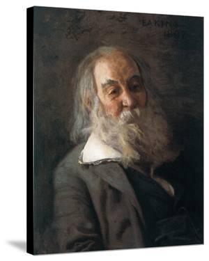 Portrait Of Walt Whitman by Thomas Cowperthwait Eakins