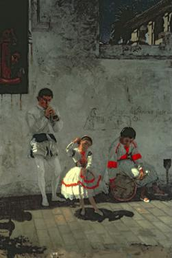 Street Scene in Seville by Thomas Cowperthwait Eakins