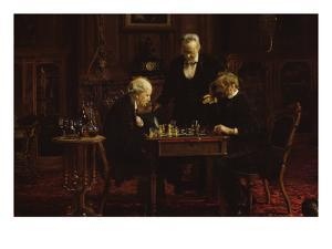 The Chess Players by Thomas Cowperthwait Eakins