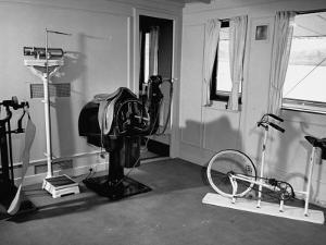 "A View Showing the Exercise Room on President Rafael L. Trujillo's Yacht ""Ramfis"" by Thomas D. Mcavoy"