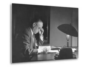 Jan Wszelaki Working at Library of Congress by Thomas D. Mcavoy
