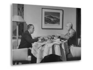 Paul G. Hoffman Having Lunch with William L. Clayton by Thomas D. Mcavoy