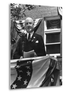 Politician James A. Farley Making a Speech During His Trip by Thomas D. Mcavoy