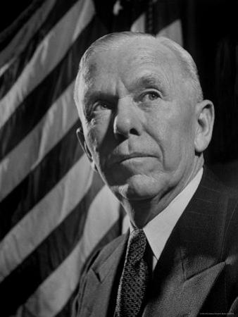 Portrait of Gen. George C. Marshall by Thomas D. Mcavoy