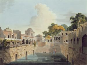 A Baolee Near the Old City of Delhi, Plate Xviii from Part 4 of 'Oriental Scenery', Pub. 1802 by Thomas Daniell