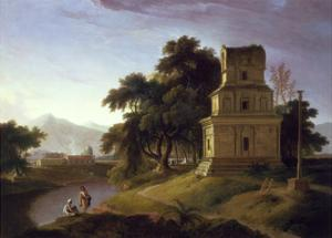 A Pagoda in the East Indies by Thomas Daniell