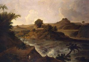 A Waterfall Near Pateta by Thomas Daniell