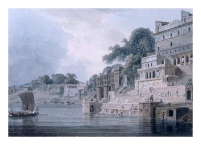 Dasasvamedha Ghat, Benares, Uttar Pradesh, C.1788-89 (Coloured Aquatint)