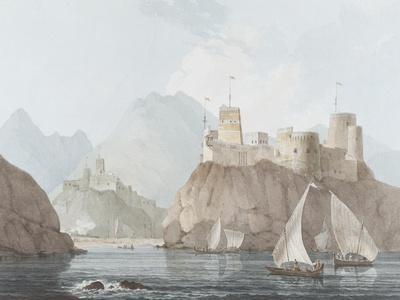 East View of the Forts Jellali and Merani, Muskah, Arabia, June 1793