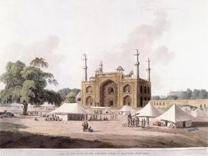 Gate of the Tomb of the Emperor Akbar by Thomas Daniell