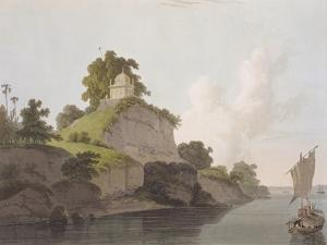 Hindoo Temple Near Currah, on the River Ganges by Thomas Daniell
