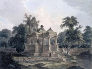 Hindu Temple in the Fort of the Rohtas, Bihar, India (W/C on Paper) by Thomas Daniell