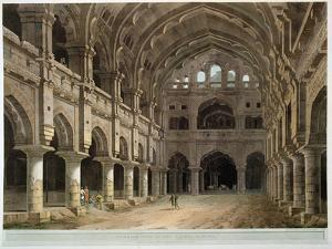 """Interior of the Palace, Madura, Plate XV from """"Oriental Scenery,"""" Published 1798 by Thomas Daniell"""