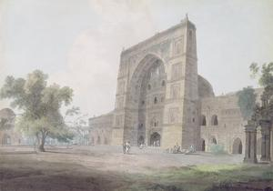 Main Entrance of the Jami Mosque, Jaunpur, 1789 (W/C over Graphite on Wove Paper) by Thomas Daniell