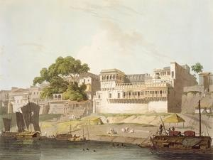 Part of City of Patna, on River Ganges, from 'Oriental Scenery: Twenty Four Views in Hindoostan' by Thomas Daniell