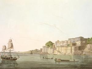 Ramnugur, near Benares, on River Ganges, from 'Oriental Scenery: Twenty Four Views in Hindoostan' by Thomas Daniell