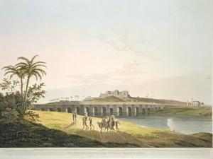 The Armenian Bridge, Madras, From 'Oriental Scenery: Twenty Four Views in Hindoostan', engraved by  by Thomas Daniell