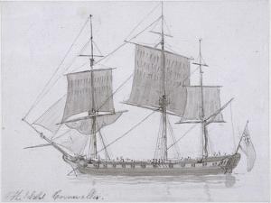 The Earl Cornwallis, C.1786-94 (Pen and Ink and Wash on Paper) by Thomas Daniell