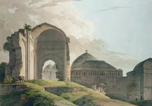The Ruins of the Palace at Madurai, 1798 by Thomas Daniell