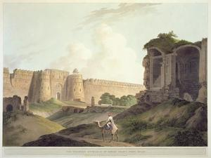 The Western Entrance of Shere Shah's Fort, Delhi by Thomas Daniell