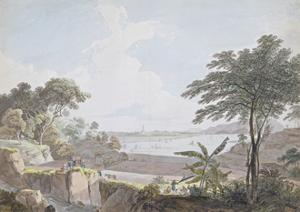 View of the Canton River, Near Whampoa, China, C.1785-94 by Thomas Daniell