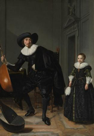A Musician and his Daughter, 1629 by Thomas de Keyser