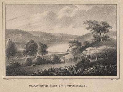 Flat Rock Dam, on Schuykill, Engraved by Moses Swett, 1827 by Thomas Doughty
