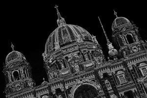 Berlin Cathedral, Black-And-White Alienated by Thomas Ebelt