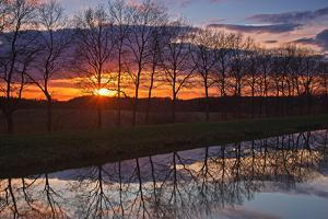 Evening Impression Am Schaalsee Channel by Thomas Ebelt