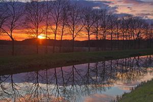 Evening Impression Am Schaalseekanal by Thomas Ebelt