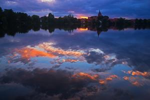 Evening Mood at the M?llner Schulsee Lake by Thomas Ebelt